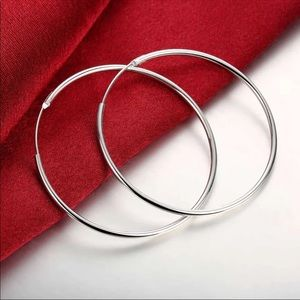 NWT 925 Silver Plated Hoops
